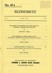 The SFA Economist Vol. 2 No. 2 by Lawrence T. Franks, Robert S. Glover, and David Townsend