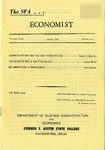 The SFA Economist Vol. 3 No. 2 by Robert Maxwell, Judson White, and A. C. Butler