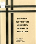 Stephen F Austin State University Journal of Education Vol. 2 No. 1 by Mary Appleberry, Francis Baccigalopi, Camille G. Bell, Duke Brannen, M. J. Cepica, Missy Corley, James DiNucci, Gloria Durr, Carole Dyer, Patsy Hallman, William Heeney, Lynn Luther, David Nelson, Thomas A. Quarles, Kay Rayborn, Sherry Rulfs, and Cecilia Thomas