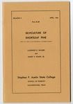 Forestry Bulletin No. 9: Silviculture of Shortleaf Pine by Laurence C. Walker and Harry V. Wiant Jr