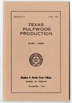 Forestry Bulletin No. 10: Texas Pulpwood Production