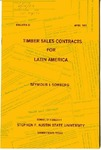 Forestry Bulletin No. 23: Timber Sales Contracts for Latin America by Seymour I. Somberg