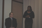 Phil Reynolds, Moderator and Shirley Dickerson, Library Director