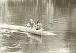 2351.11-05 Children Canoeing Double Lake - Sam Houston National Forest
