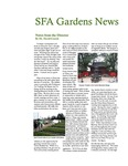SFA Gardens Newsletter, Fall 2011