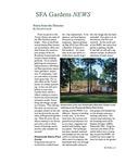 SFA Gardens Newsletter, Summer 2013