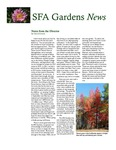 SFA Gardens Newsletter, Winter 2012